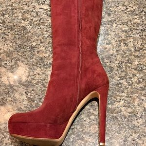 "Christian Dior Red Suede 6"" Boots"